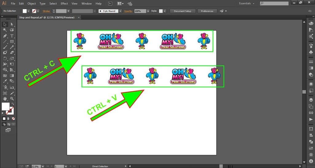 Logo Wall Instructions Illustrator Step 5-a