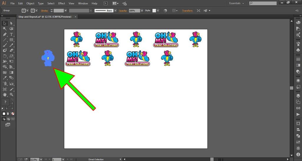 Logo Wall Instructions Illustrator Step 5-c