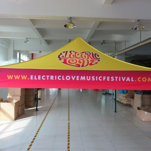 Printed Canopy 10x10 dye sublimation