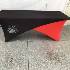 Cross Over Spandex Tablecloth
