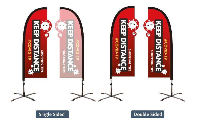 Custom Shape Flags Social Distancing