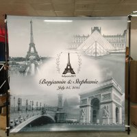 Wedding Backdrop Printing Paris France