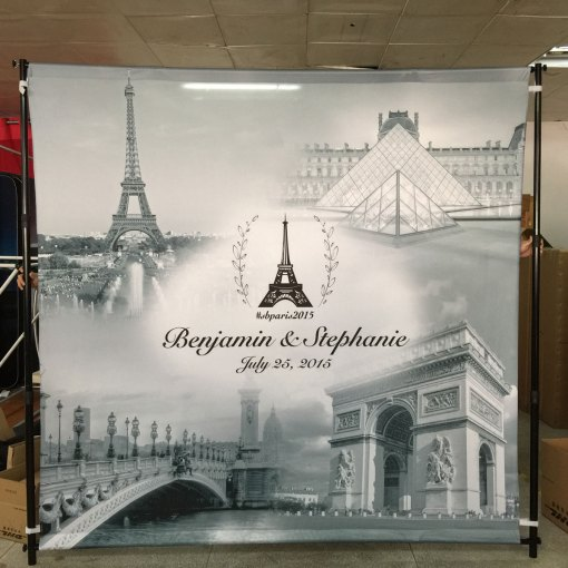 Wedding Backdrop Printing Paris France