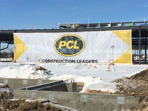 Construction Site Mesh Banner - 80 x 20 feet
