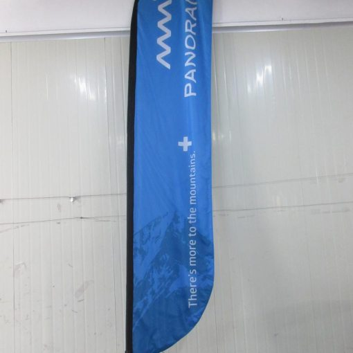 Outdoor-feather-flag-for-ski-resorts