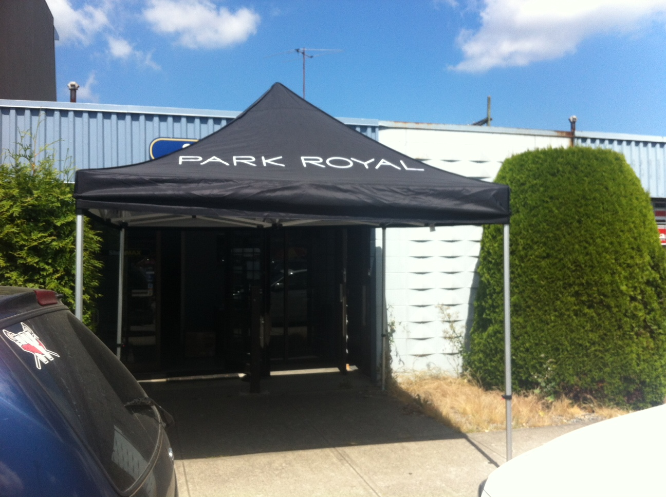 10x10 pop up canopy tent printing & Pop up 10x10 Printed Canopy Park Royal West Vancouver - Oh my ...