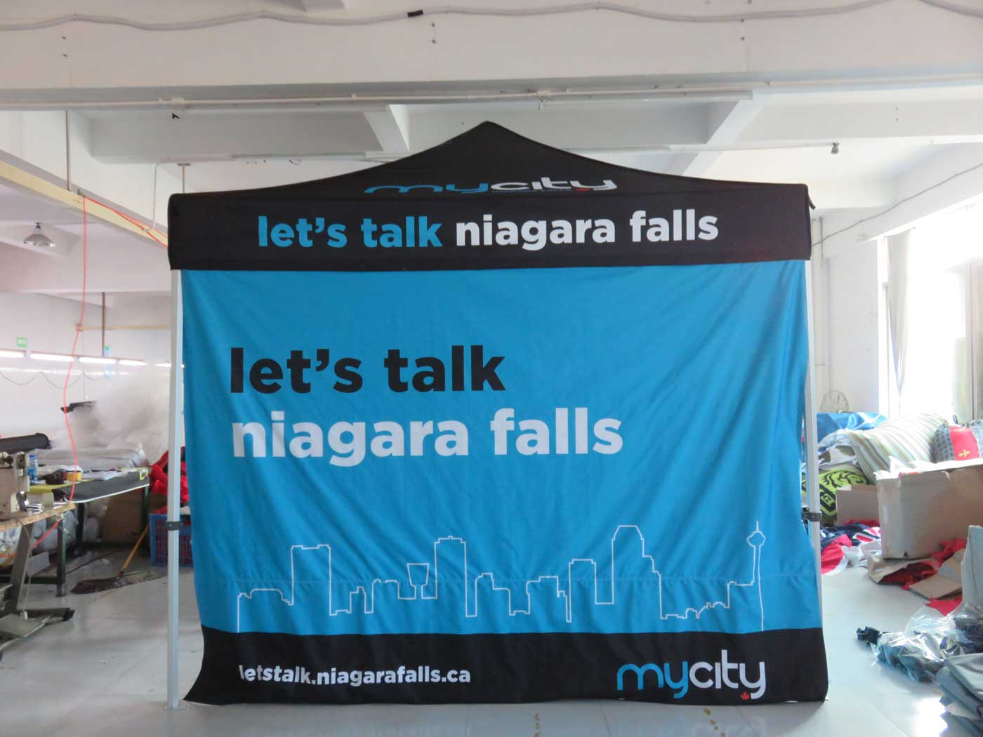 Printed 50 Hex Canopy Tent for Niagara Falls Ontario & Custom Printed Pop up Canopy Tents - Free Shipping