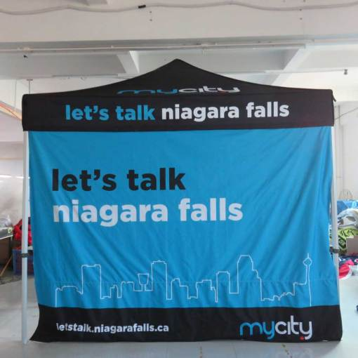 Printed 50 Hex Canopy Tent for Niagara Falls Ontario