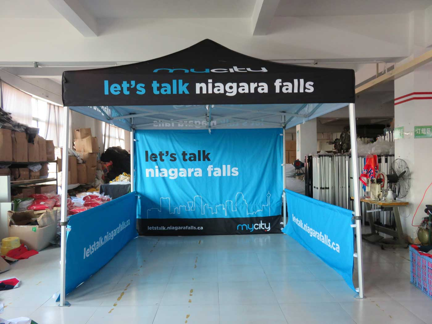 Niagara Falls Ontario custom printed canopy tent & Vancouver Printing - Oh my Print Solutions