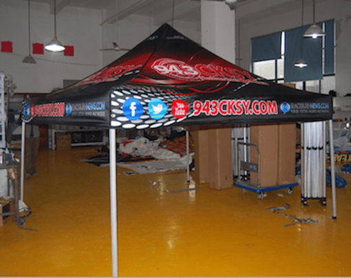 Printed pop up tent Ontario