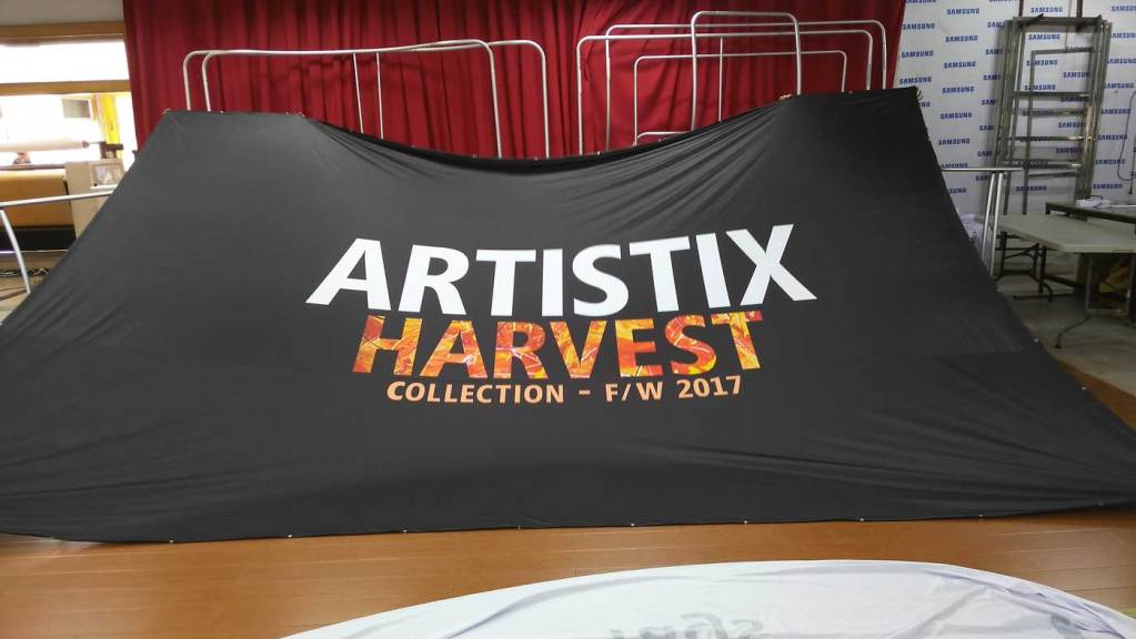 Custom printed stage backdrop flag