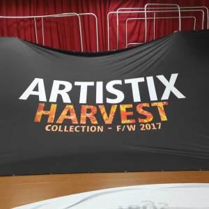 Custom printed stage backdrop flag