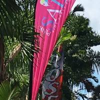 Printed Teardrop Flags shipped to Seychelles