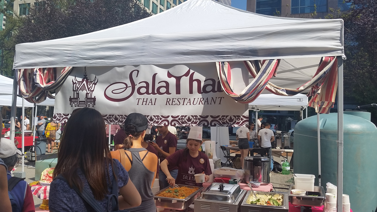 Color printing downtown vancouver - Sign Printing For Thailand Festival
