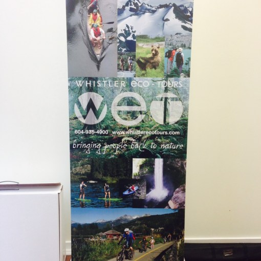 Retractable Banner Stand printing Whistler
