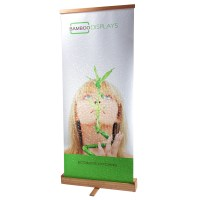 Bamboo Banner Stand with Canvas Banner