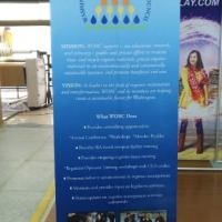 Bamboo retractable roll up banners