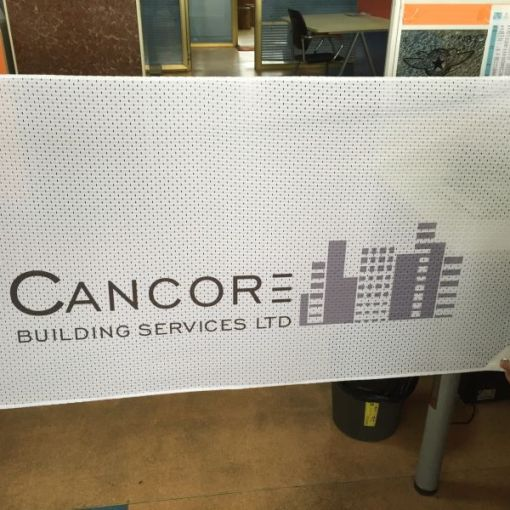 Fabric Mesh Banners for Windy Conditions