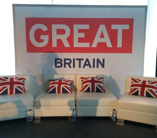 Pop up Display Backdrop Stand for UK GReat Britain