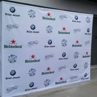 Pop up Step and Repeat Media Wall