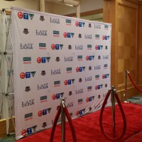Pop up Step and Repeat Media Logo Wall