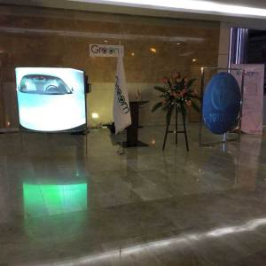 Black Rear projection Film shipped to Iran