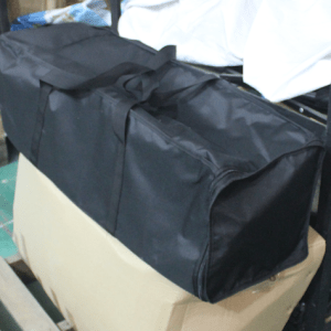Padded shipping case with internal compartments
