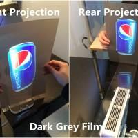 Dark Grey Rear Projection Film