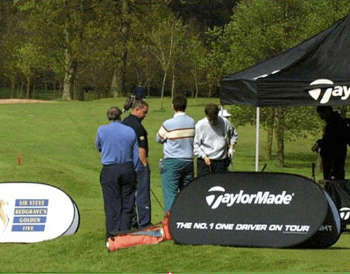 Pop up Banner printing for the gold course.
