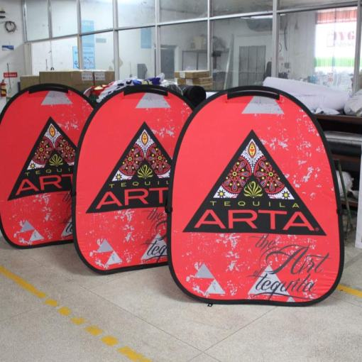 Customized pop up banners