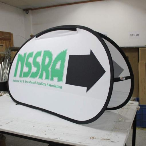 oval pop up banner systems