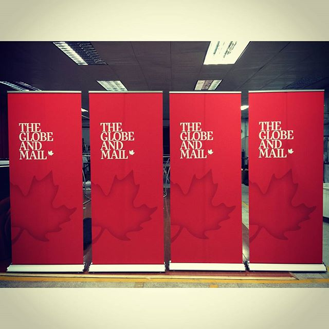 Matte Satin Fabric Banner Stands