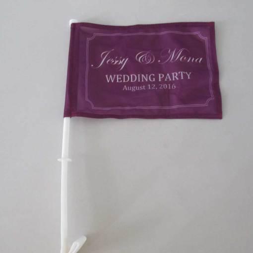 Car-window-flags-for-wedding