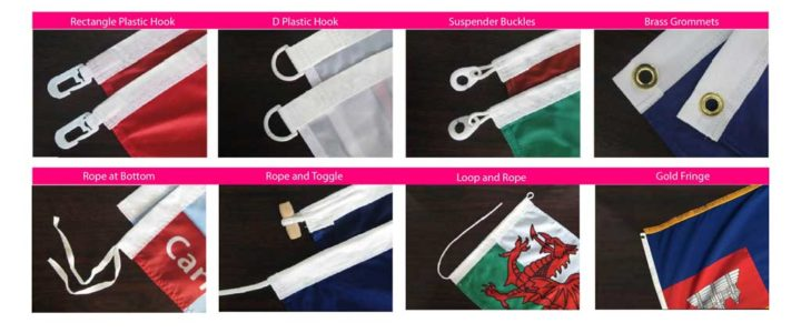 fixtures for printed flags