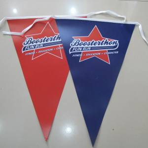 Plastic Advertising Bunting Flags