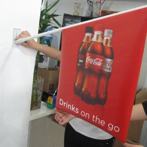 printed wall flags for retail stores