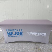 Stretch tablecloth custom printed