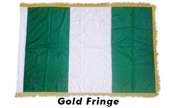 Standard Custom Made Flags with Gold Fringe