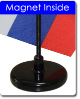 Magnetic flag base
