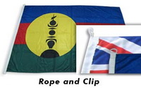 Custom Made Flags with Rope & Clip
