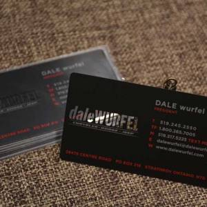 Black Matte Metal Business Cards shipped to London