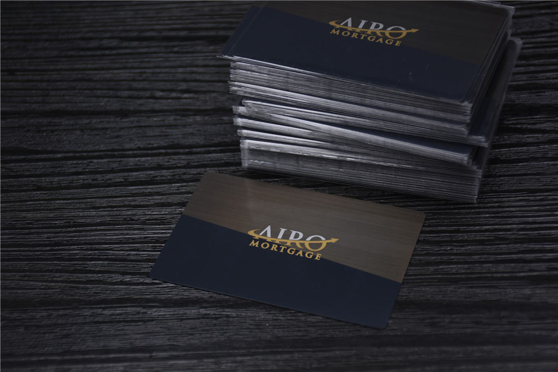 Matte black metal business cards luxury black metal business cards colourmoves