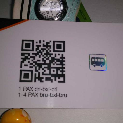 Holographic Business Card with QR Code