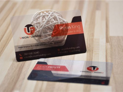 Transparent Clear Business Card