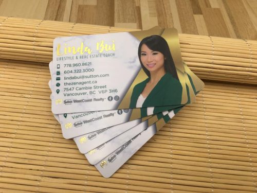 Gloss PVC Card with Gold Foil