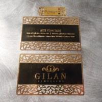 Die Cut Gold Metal Business cards