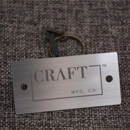Etched Metal Luggage Tag