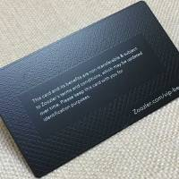 Matte Black Metal Card with Background Texture