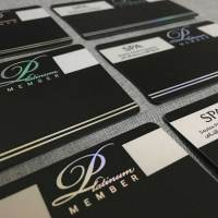 Custom printed cards with hologram
