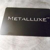 Matte black premium metal card